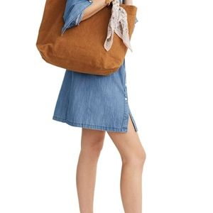Madewell Transport Canvas Brown Tote New